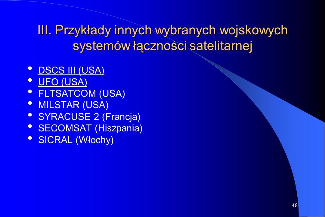 47 Obszar pokrycia wyrażony w szerokości wiązki promieniowania 3 1 Zakres częstotliwości praca góra/dół 6,2/414,2/11,76,2/414,2/11,7 Średnica anteny s