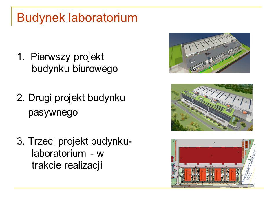 Budynek laboratorium 1. Pierwszy projekt budynku biurowego 2. Drugi projekt budynku pasywnego 3. Trzeci projekt budynku- laboratorium - w trakcie real