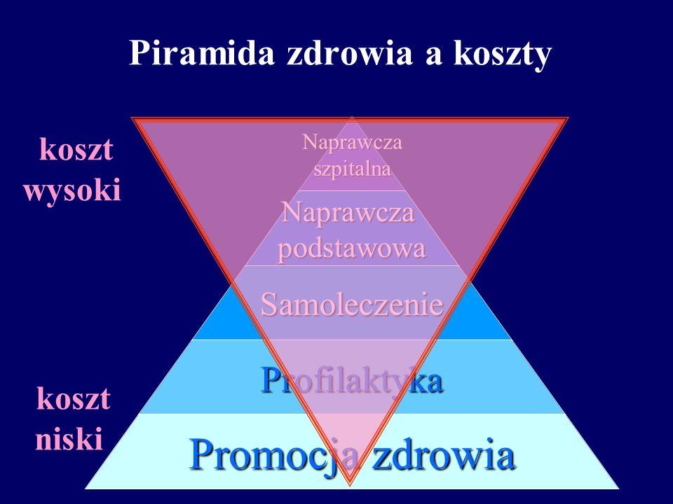 Piramida zdrowiaNaprawczaszpitalnaNaprawczapodstawowa Samoleczenie Profilaktyka Promocja zdrowia