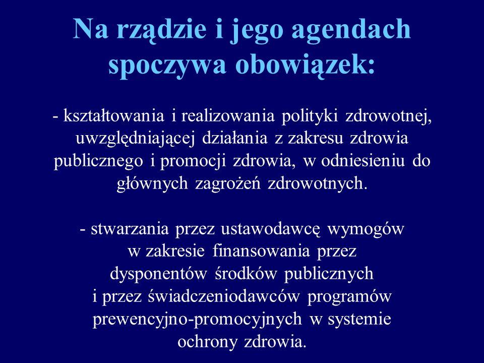 Zadania w zakresie ochrony zdrowia wynikające z układu kompetencji władz państwowych można podzielić na: rządowe i samorządowe