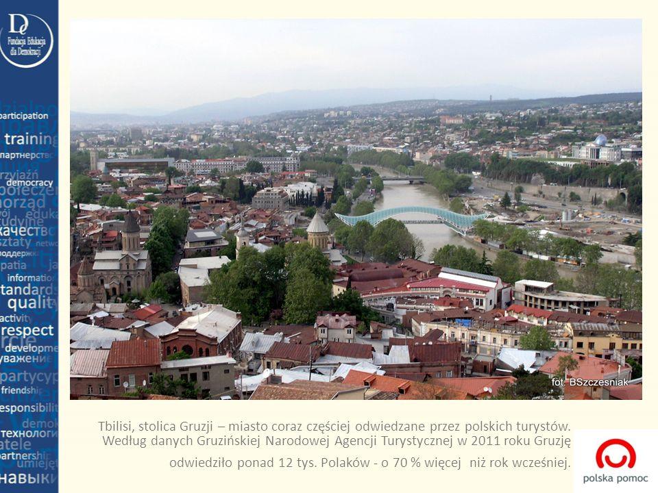 Tbilisi, stolica Gruzji – miasto coraz częściej odwiedzane przez polskich turystów. Według danych Gruzińskiej Narodowej Agencji Turystycznej w 2011 ro