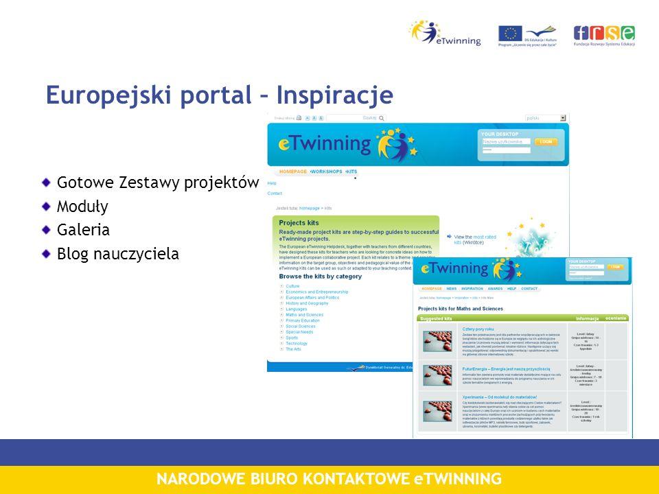 NARODOWE BIURO KONTAKTOWE eTWINNING Europejski portal – Inspiracje Gotowe Zestawy projektów Moduły Galeria Blog nauczyciela