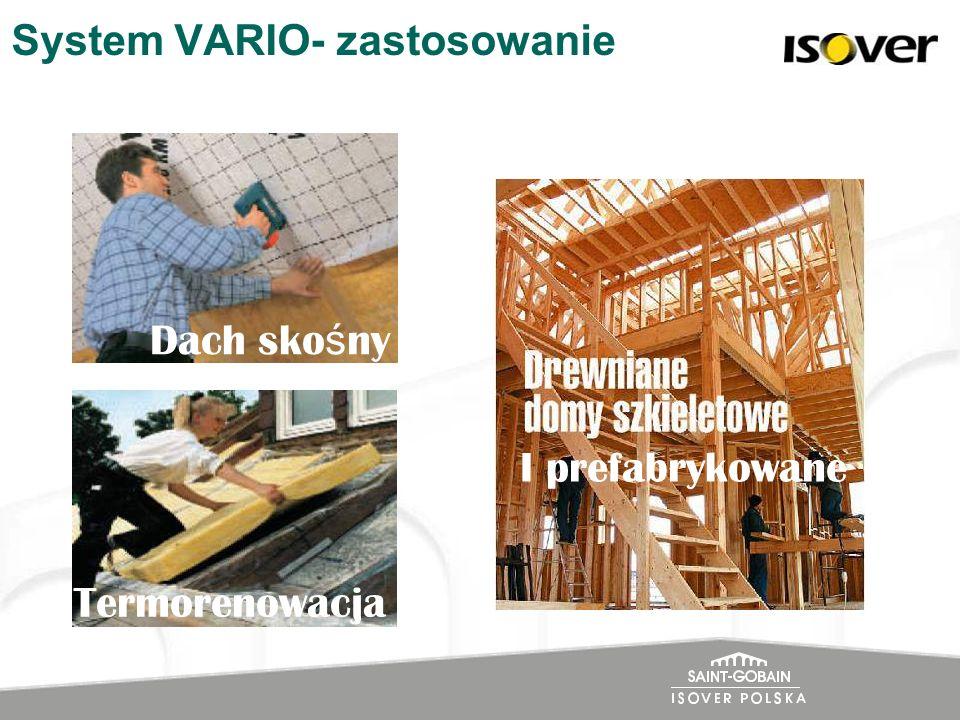 System VARIO- zastosowanie Dach sko ś ny Termorenowacja I prefabrykowane