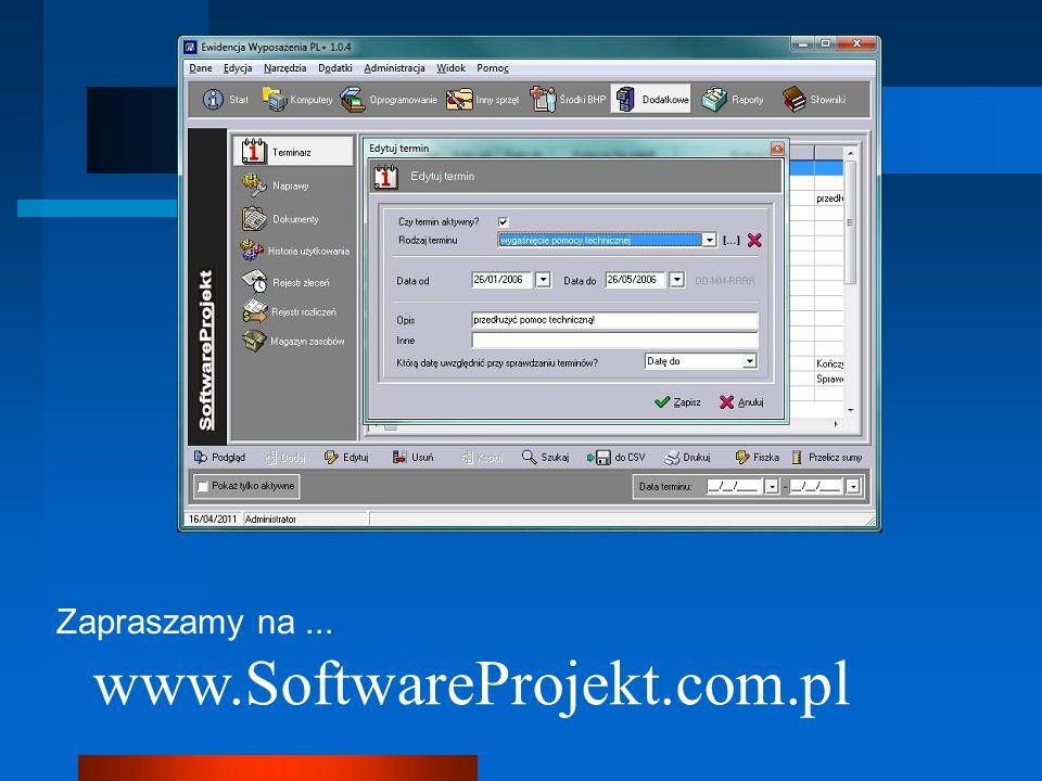 Zapraszamy na... www.SoftwareProjekt.com.pl