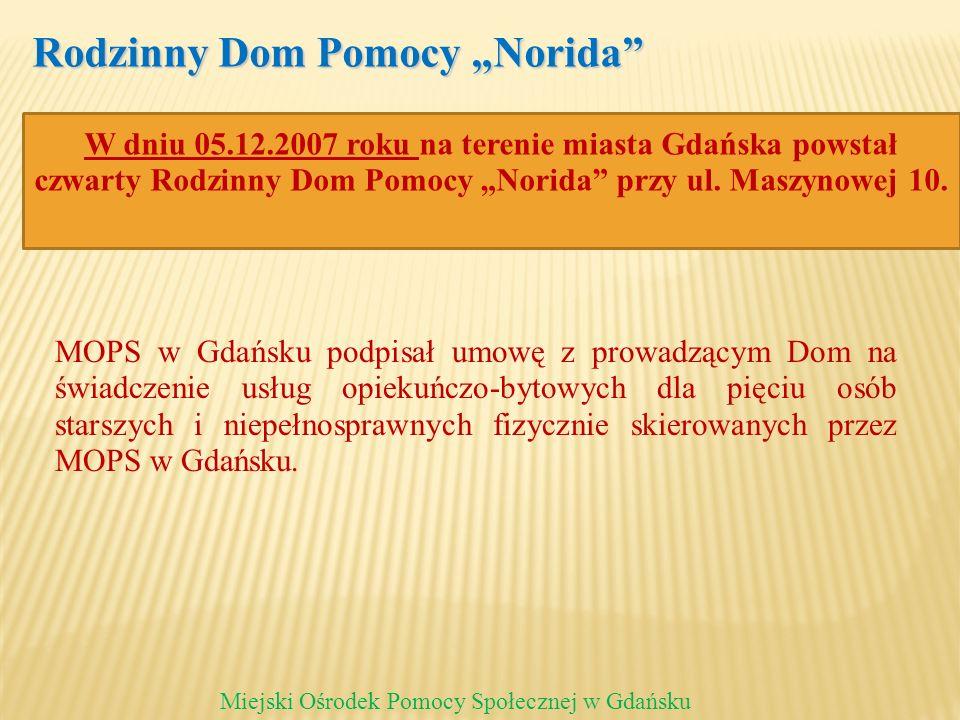 Rodzinny Dom Pomocy Norida Miejski Ośrodek Pomocy Społecznej w Gdańsku MOPS w Gdańsku podpisał umowę z prowadzącym Dom na świadczenie usług opiekuńczo