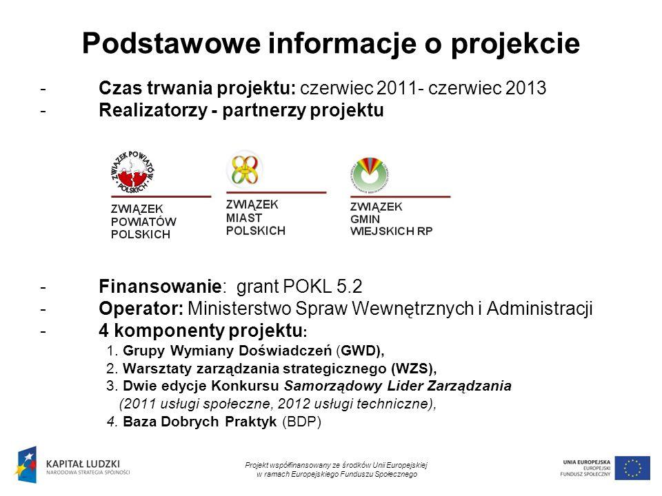 3 Podstawowe informacje o projekcie -Czas trwania projektu: czerwiec 2011- czerwiec 2013 -Realizatorzy - partnerzy projektu -Finansowanie: grant POKL