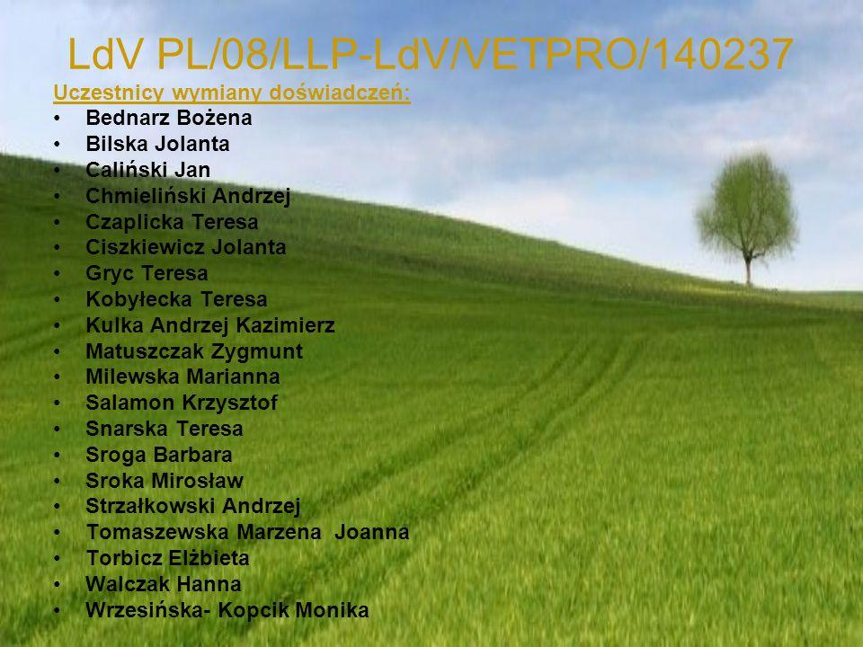 LdV PL/08/LLP-LdV/VETPRO/140237 Uprawa ekologiczna