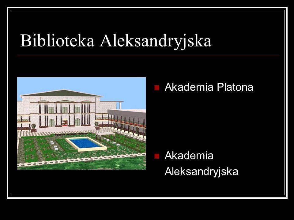 Biblioteka Aleksandryjska Akademia Platona Akademia Aleksandryjska
