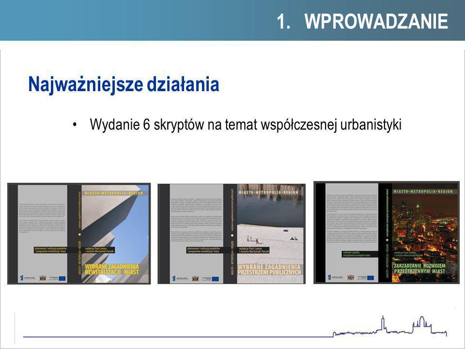Przygotowanie uruchomienia nowego kierunku studiów - GODPODARKA PRZESTZRENNA - przygotowanie indywidualnych programów studiów w postaci kompletnych opisów wykładów i ćwiczeń - otworzenie nowego kierunku 2012/2013 1.