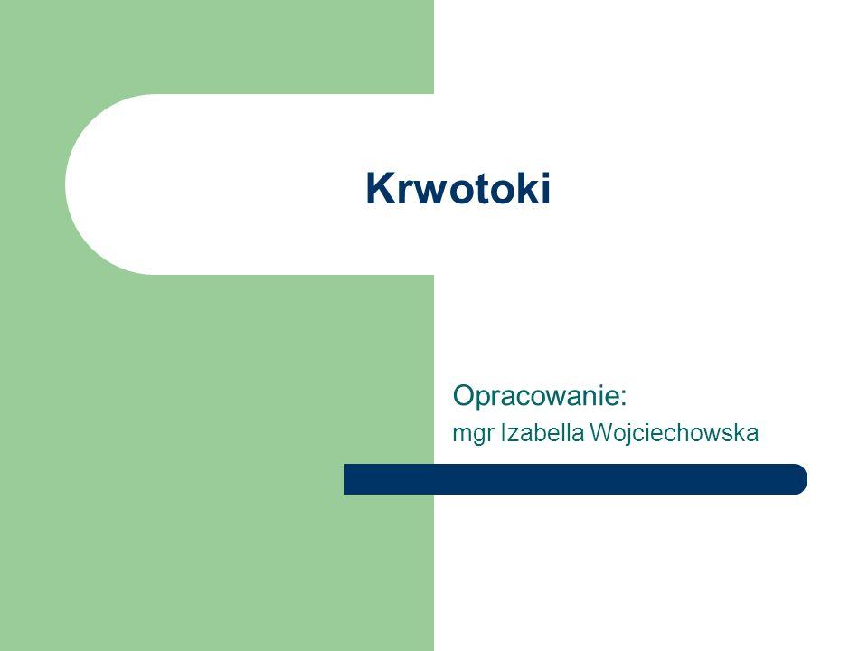 Krwotoki Opracowanie: mgr Izabella Wojciechowska