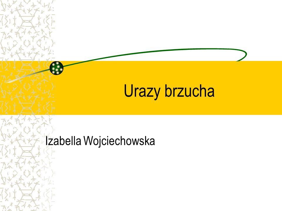 Urazy brzucha Izabella Wojciechowska