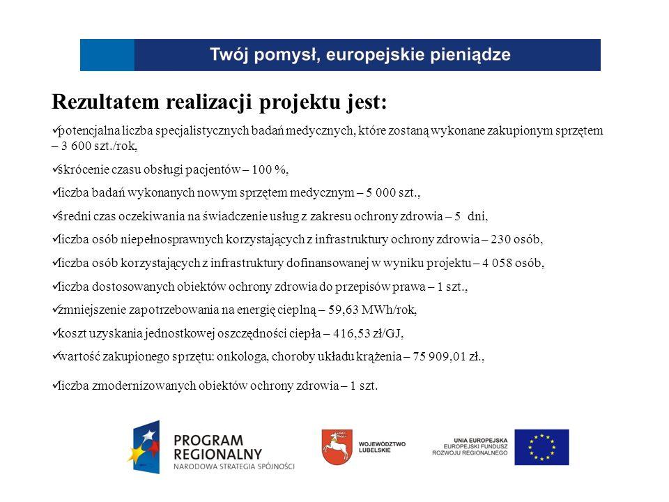 Bezpośrednimi produktami projektu jest: liczba wdrożonych systemów informatycznych poprawiających zarządzanie - 1 szt.