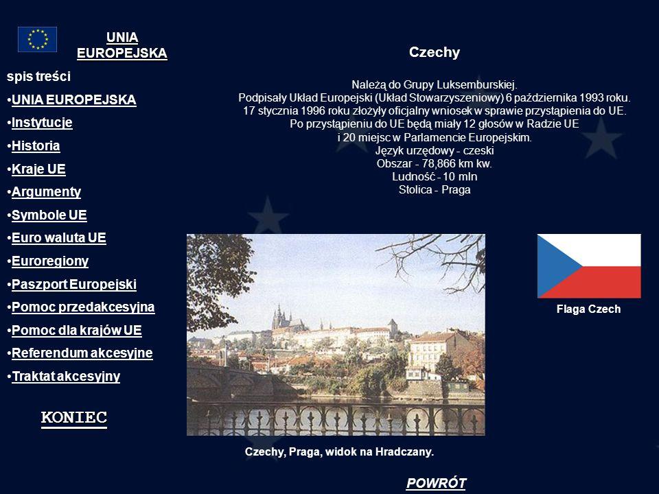 Czechy Należą do Grupy Luksemburskiej. Podpisały Układ Europejski (Układ Stowarzyszeniowy) 6 października 1993 roku. 17 stycznia 1996 roku złożyły ofi