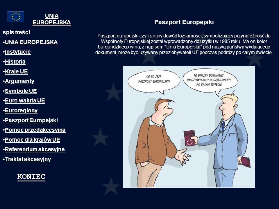 Paszport Europejski Paszport europejski czyli unijny dowód tożsamości, symbolizujący przynależność do Wspólnoty Europejskiej został wprowadzony do uży