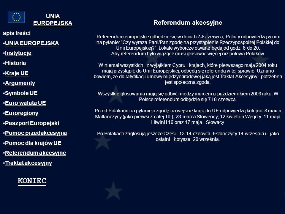 Referendum akcesyjne Referendum europejskie odbędzie się w dniach 7-8 czerwca; Polacy odpowiedzą w nim na pytanie: