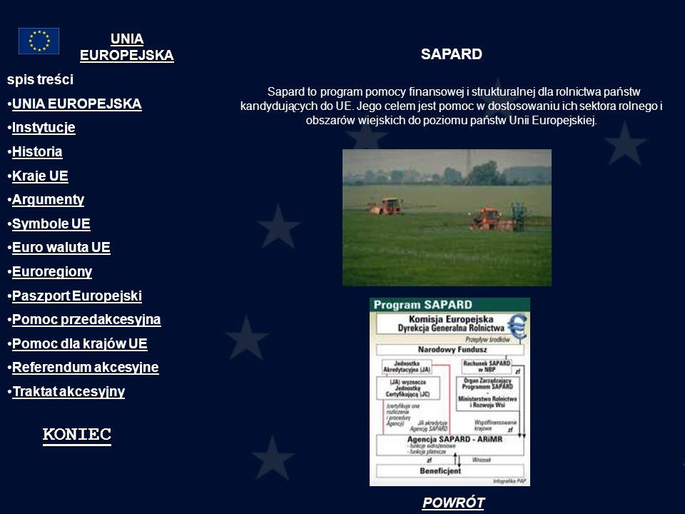 SAPARD Sapard to program pomocy finansowej i strukturalnej dla rolnictwa państw kandydujących do UE. Jego celem jest pomoc w dostosowaniu ich sektora