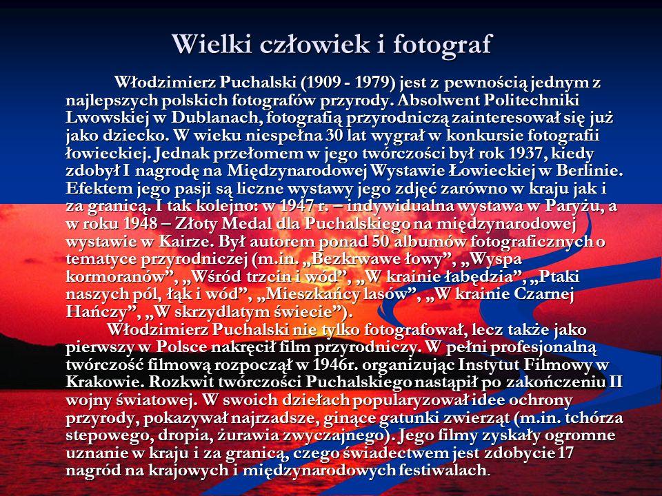 Wielki człowiek i fotograf Włodzimierz Puchalski (1909 - 1979) jest z pewnością jednym z najlepszych polskich fotografów przyrody. Absolwent Politechn