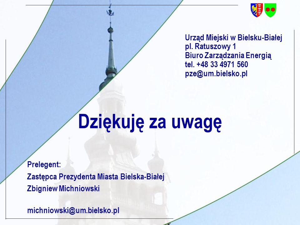 Urząd Miejski w Bielsku-Białej pl. Ratuszowy 1 Biuro Zarządzania Energią tel.