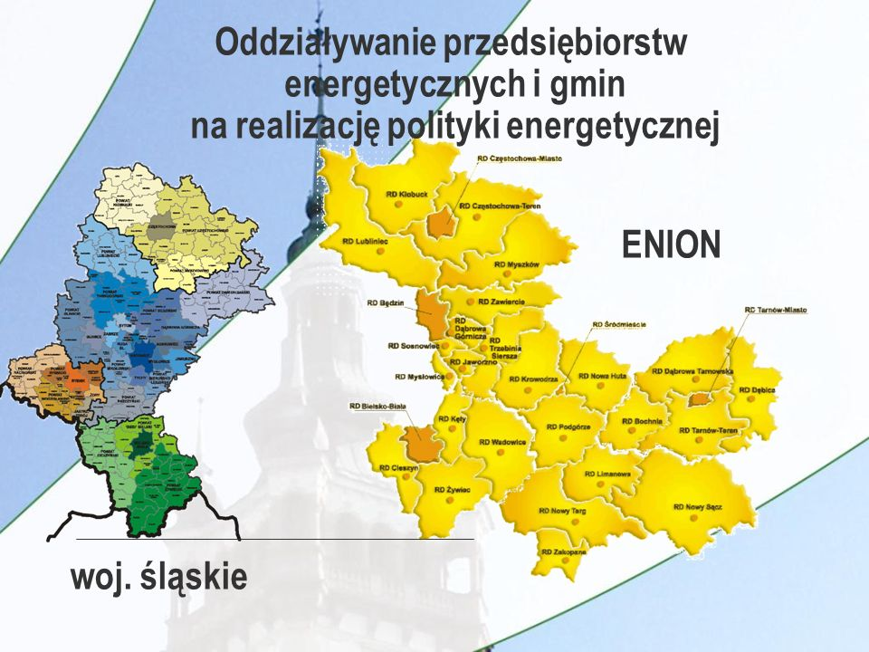 woj. śląskie ENION Oddziaływanie przedsiębiorstw energetycznych i gmin na realizację polityki energetycznej