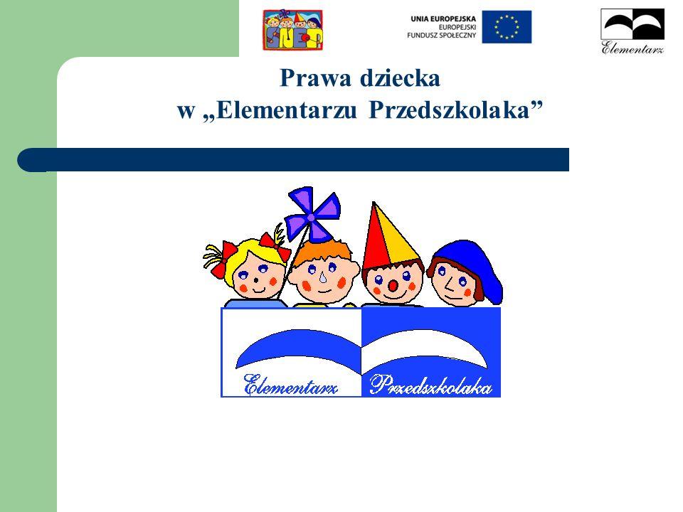 Prawa dziecka w Elementarzu Przedszkolaka
