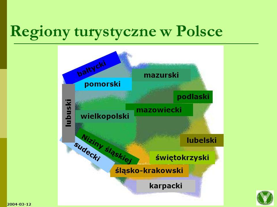 2004-03-12 Kwatery turystyki wiejskiej i gospodarstwa agroturystyczne w Polsce (1993-2005) Źródło: Opracowanie własne na podstawie danych MRiRW, ARiMR i danych literaturowych.