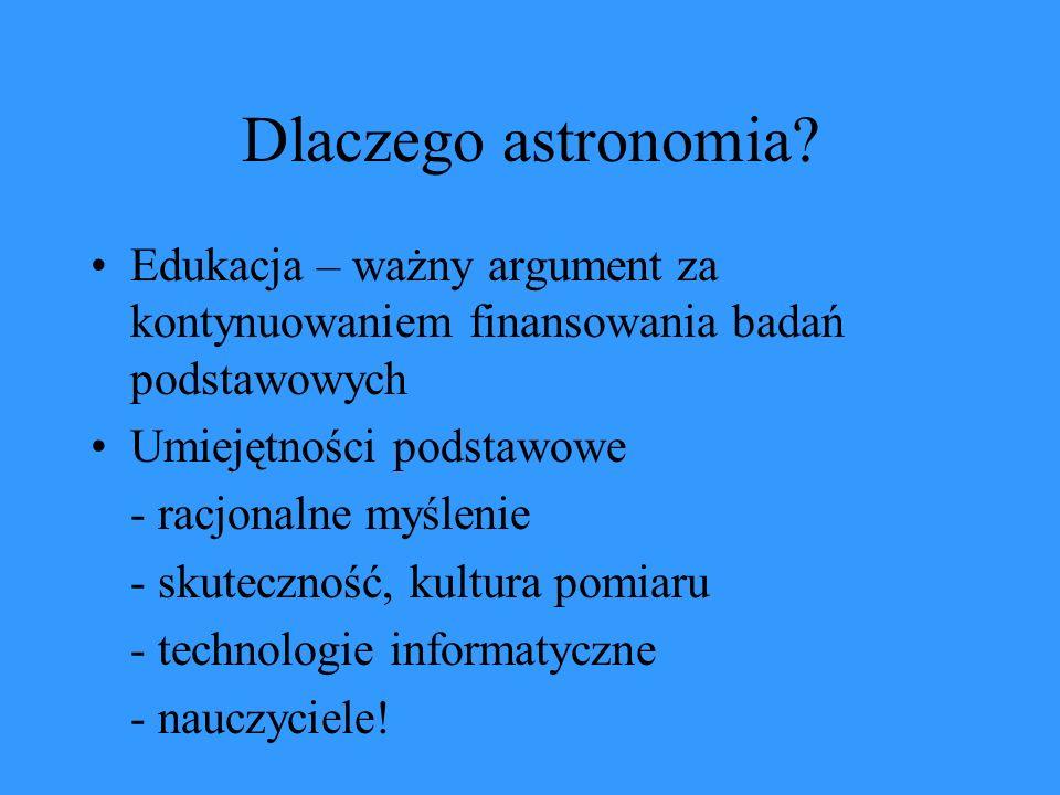 Dlaczego astronomia.