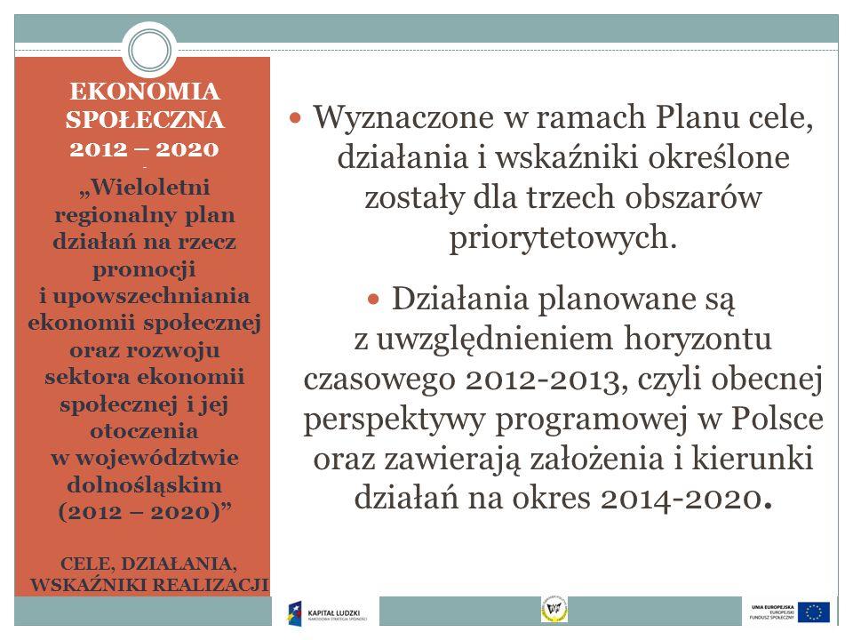 EKONOMIA SPOŁECZNA 2012 – 2020 - Wieloletni regionalny plan działań na rzecz promocji i upowszechniania ekonomii społecznej oraz rozwoju sektora ekono