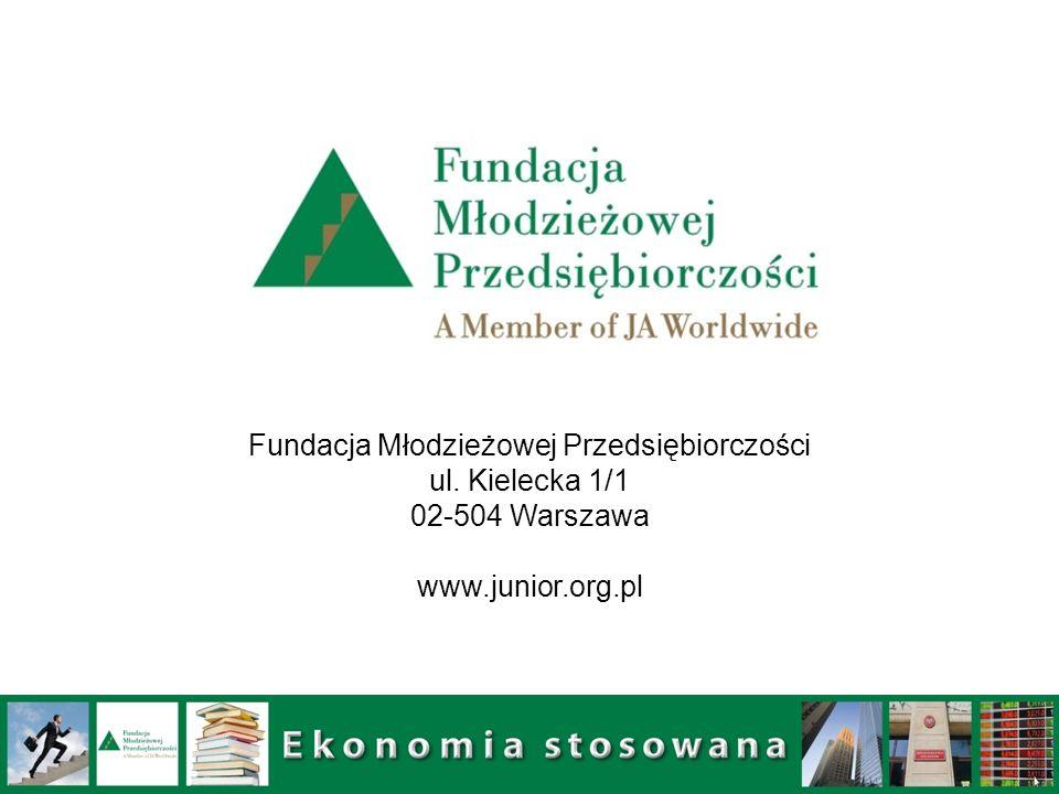 Fundacja Młodzieżowej Przedsiębiorczości ul. Kielecka 1/1 02-504 Warszawa www.junior.org.pl