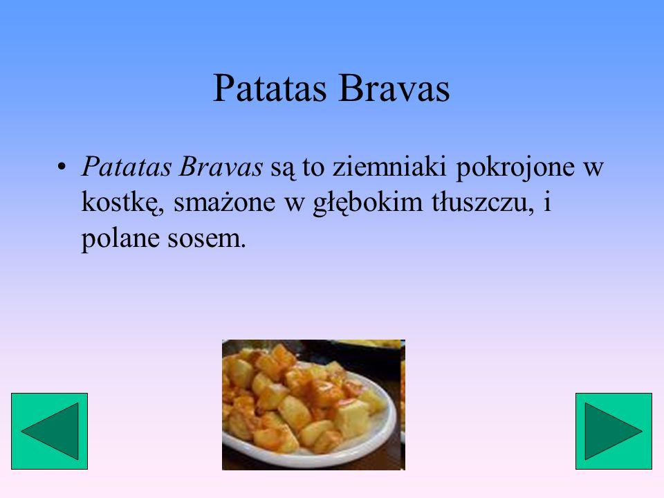 Przystawki Przystawki stanowią nieodłączną część kuchni hiszpańskiej.