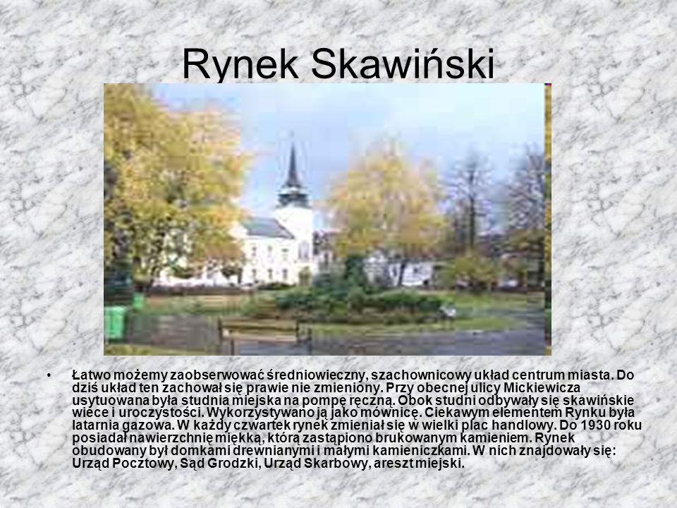 Skawina Powstanie miasta Skawiny związane było z istniejącym brodem na rzece Skawince i komorą celną, przez które prowadziły ważne szlaki handlowe łąc