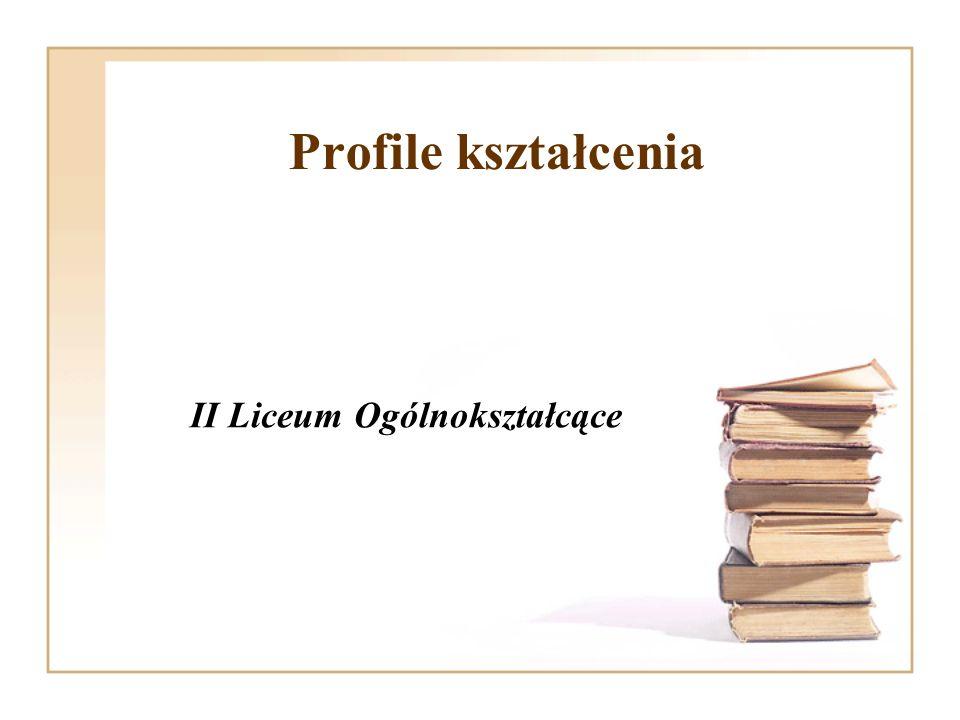 Profile kształcenia II Liceum Ogólnokształcące