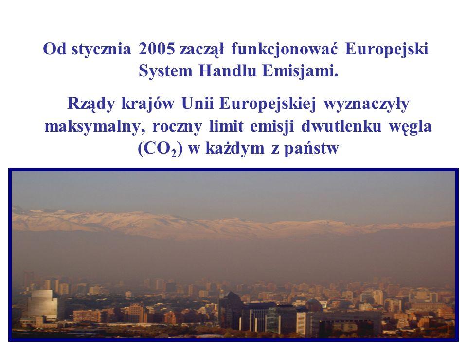 Od stycznia 2005 zaczął funkcjonować Europejski System Handlu Emisjami. Rządy krajów Unii Europejskiej wyznaczyły maksymalny, roczny limit emisji dwut