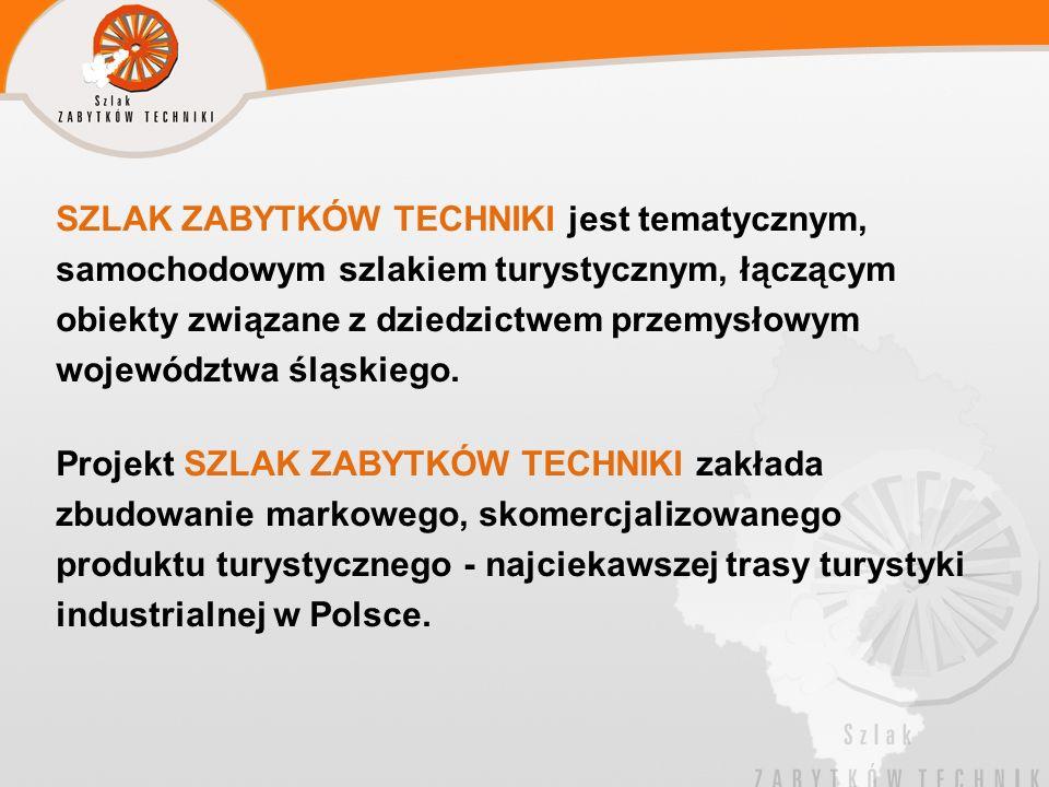 SZLAK ZABYTKÓW TECHNIKI jest tematycznym, samochodowym szlakiem turystycznym, łączącym obiekty związane z dziedzictwem przemysłowym województwa śląski