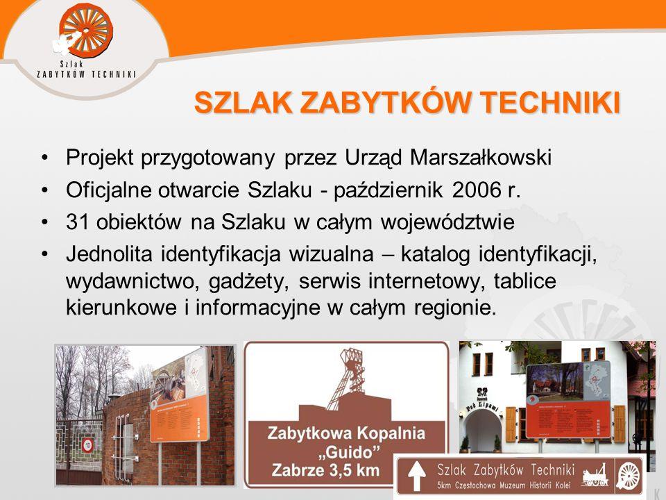 SZLAK ZABYTKÓW TECHNIKI SZLAK ZABYTKÓW TECHNIKI Projekt przygotowany przez Urząd Marszałkowski Oficjalne otwarcie Szlaku - październik 2006 r. 31 obie