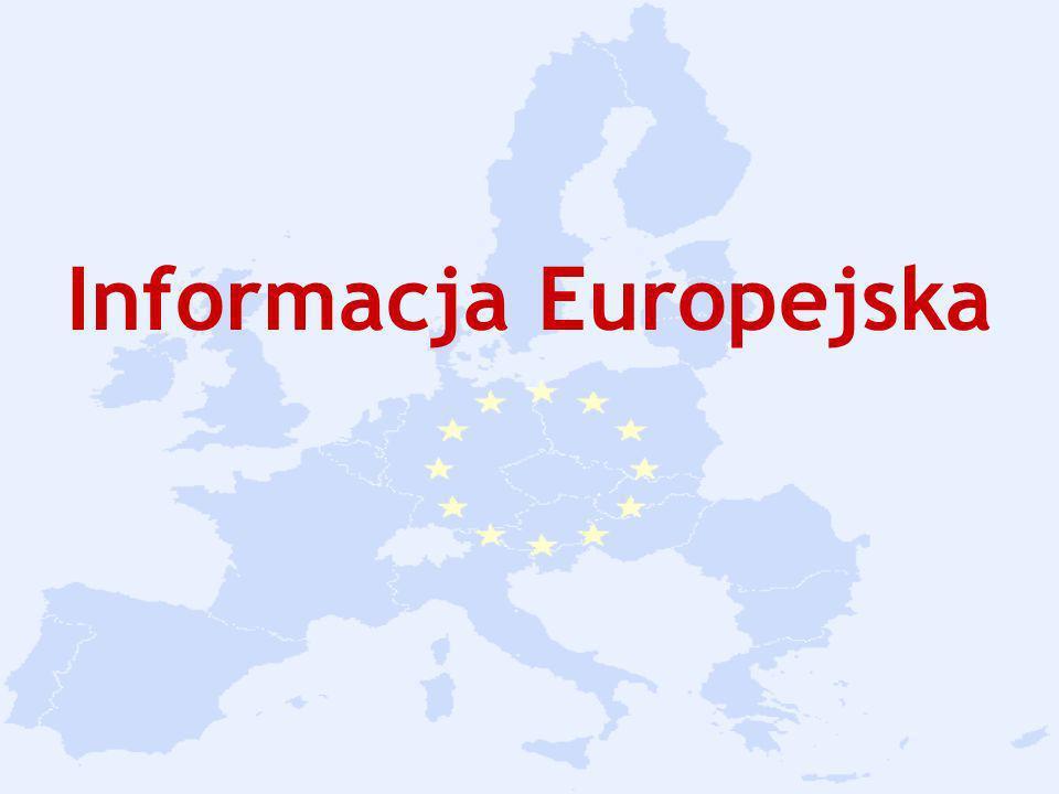 Sieci informacyjne o UE Wymiana informacji to istotny element każdej demokracji.
