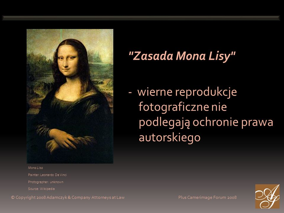 Mona Lisa Painter: Leonardo Da Vinci Photographer: unknown Source: Wikipedia