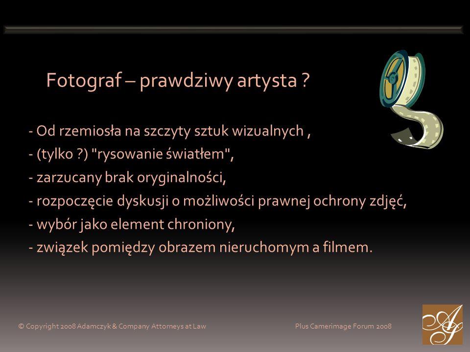 Fotograf – prawdziwy artysta ? - Od rzemiosła na szczyty sztuk wizualnych, - (tylko ?)