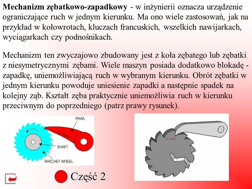 Część 1 Analiza mechanizmów krzywkowych: Sposób graficzny - unieruchamiamy krzywkę i zmuszamy popychacz do ślizgania się po jej powierzchni aż do zaję