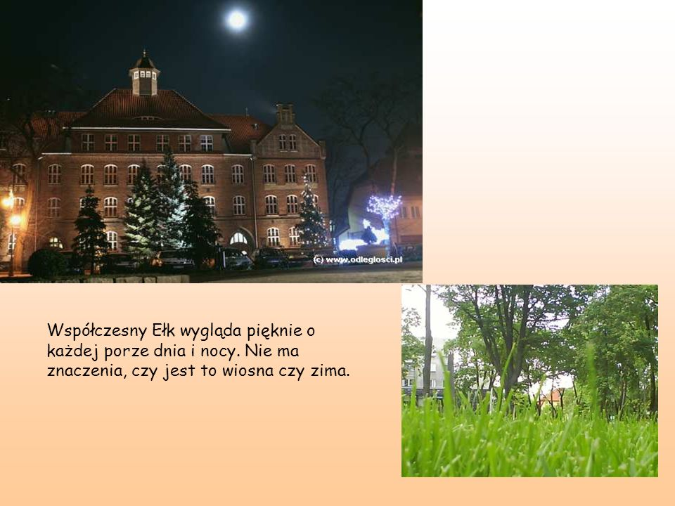 Współczesny Ełk wygląda pięknie o każdej porze dnia i nocy. Nie ma znaczenia, czy jest to wiosna czy zima.