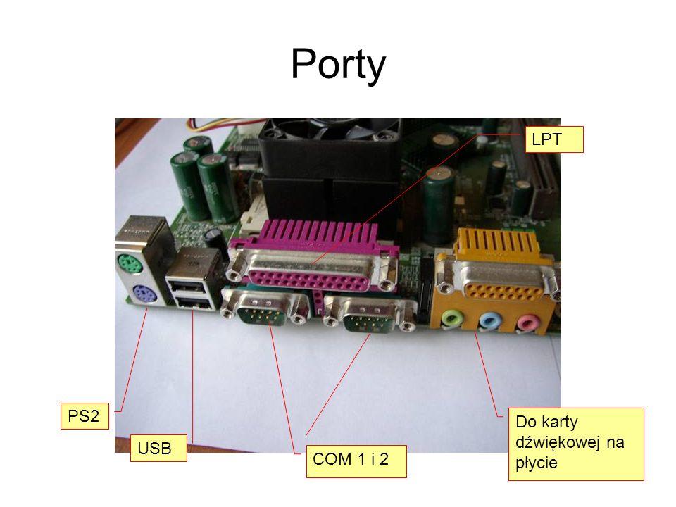 Porty PS2 USB COM 1 i 2 Do karty dźwiękowej na płycie LPT