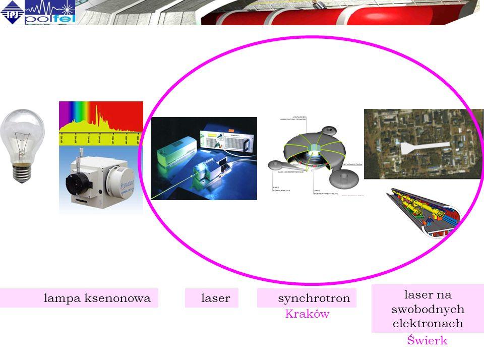 laser synchrotron laser na swobodnych elektronach lampa ksenonowa Świerk Kraków