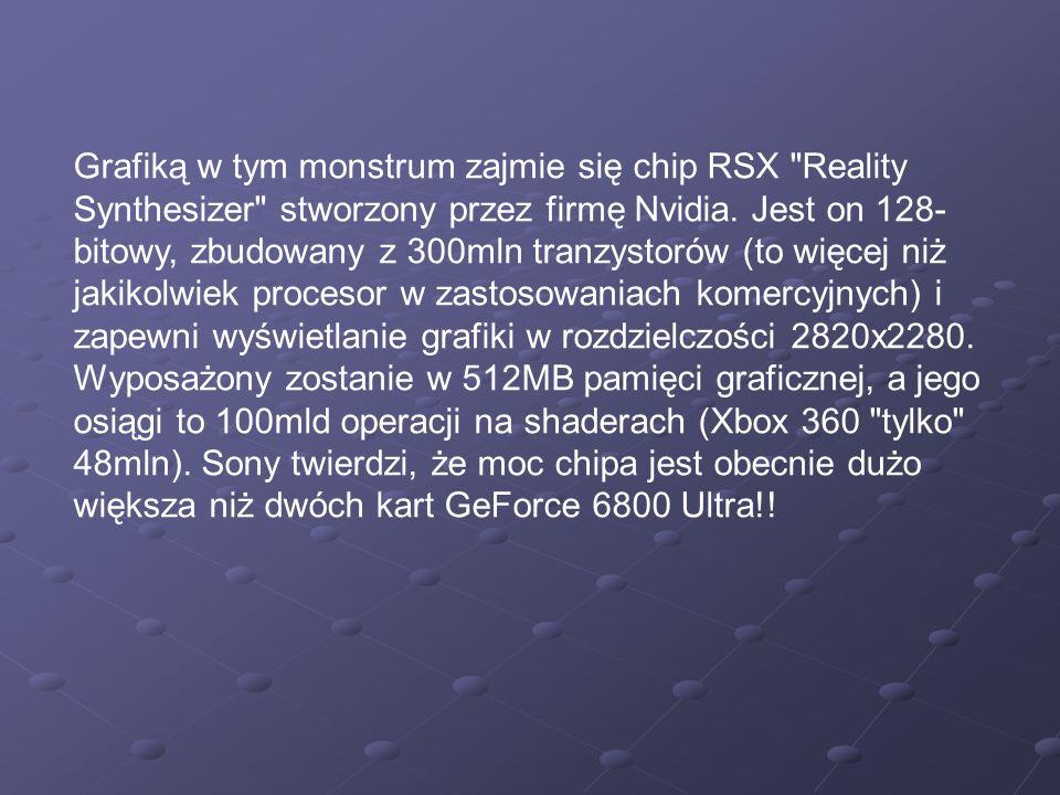 Grafiką w tym monstrum zajmie się chip RSX