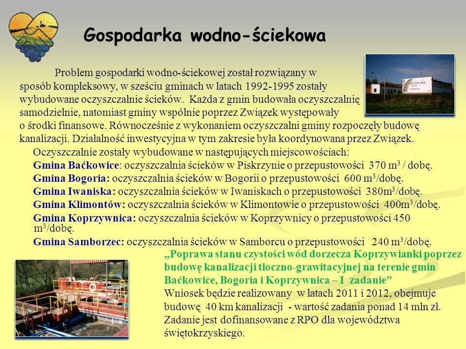Edukacja ekologiczna W latach 1995-2000 w 20 szkołach z terenu gmin Związku prowadzono edukację ekologiczną w ramach programu Czysta Wisła i Rzeki Przymorza.