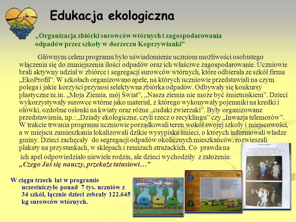 Do realizacji programu Związek przystąpił w roku 2006 po oddaniu do użytku ZOUK Janczyce.