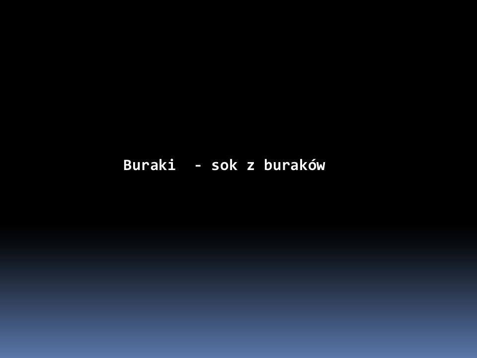 Buraki - sok z buraków