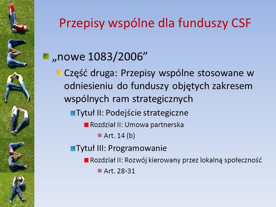 EFRROW (3) LGD IZ i AP może powierzyć dodatkowe zadania Zaliczka do 50% na koszty bieżące i koszty aktywizacji (wniosek Polski o podniesienie do 80%) Zaliczki do 50% na projekty inwestycyjne (wniosek Polski o uwzględnienie również projektów nieinwestycyjnych)