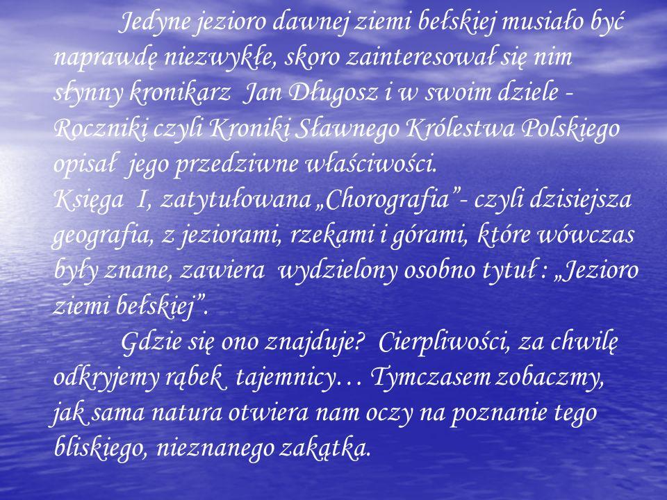 Jedyne jezioro dawnej ziemi bełskiej musiało być naprawdę niezwykłe, skoro zainteresował się nim słynny kronikarz Jan Długosz i w swoim dziele - Roczn