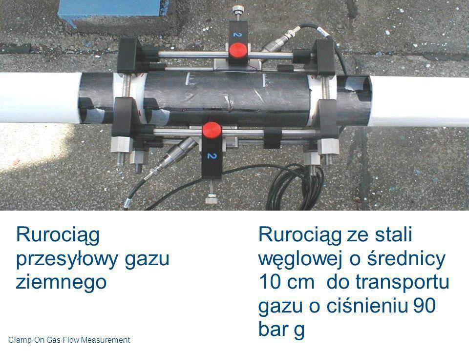 Rurociąg przesyłowy gazu ziemnego Rurociąg ze stali węglowej o średnicy 10 cm do transportu gazu o ciśnieniu 90 bar g Clamp-On Gas Flow Measurement