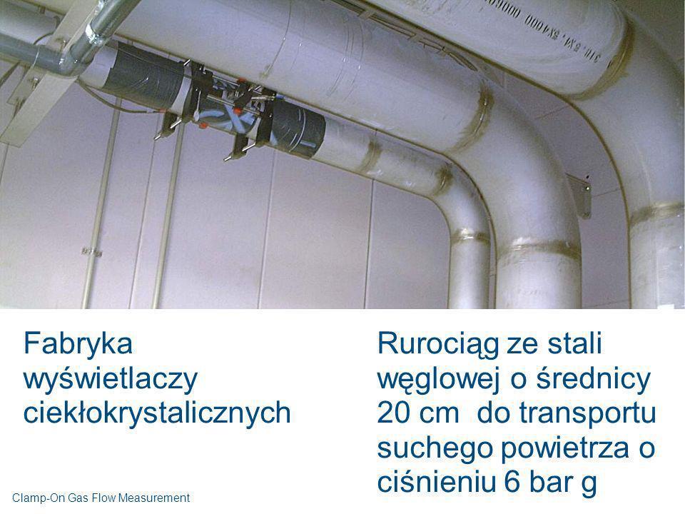 Fabryka wyświetlaczy ciekłokrystalicznych Rurociąg ze stali węglowej o średnicy 20 cm do transportu suchego powietrza o ciśnieniu 6 bar g Clamp-On Gas