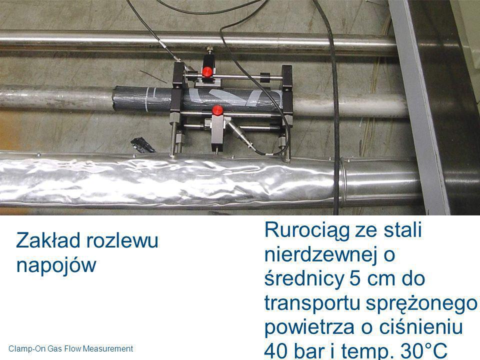 Zakład rozlewu napojów Rurociąg ze stali nierdzewnej o średnicy 5 cm do transportu sprężonego powietrza o ciśnieniu 40 bar i temp. 30°C Clamp-On Gas F